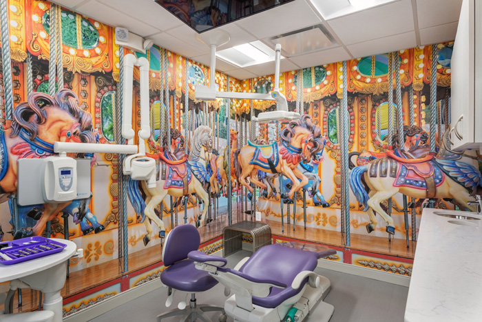 Dr. Stacy Zarakiotis' Carnival Room in Greenwich, CT