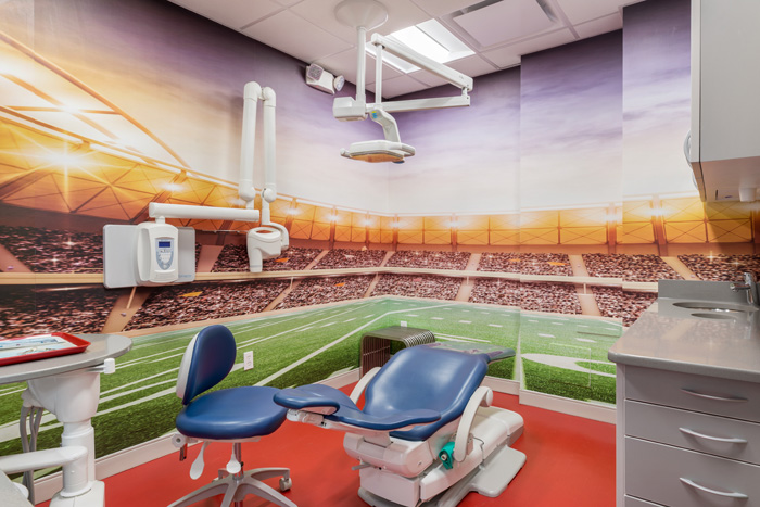 Stadium Room at the Pediatric Dentist for Greenwich and Stamford, CT